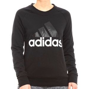 Adidas Womens Crew Neck Sweatshirt Black